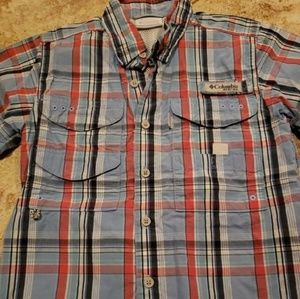 Columbia Plaid Fishing Shirt